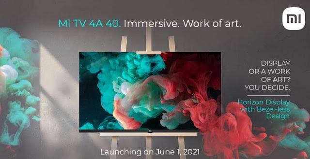 شاومي تستعد لإطلاق جهاز Mi TV 4A Horizon في الأول من يونيو