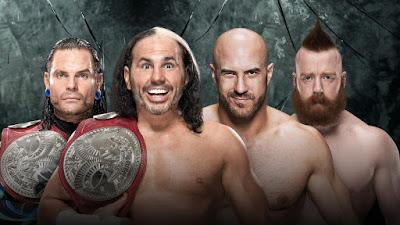 The Hardy Boyz (Matt Hardy and Jeff Hardy) vs. Cesaro and Sheamus