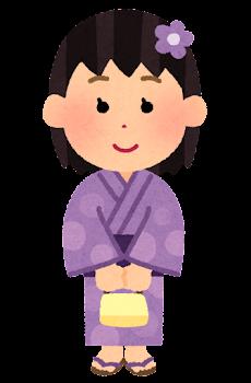 浴衣を着た女の子のイラスト1