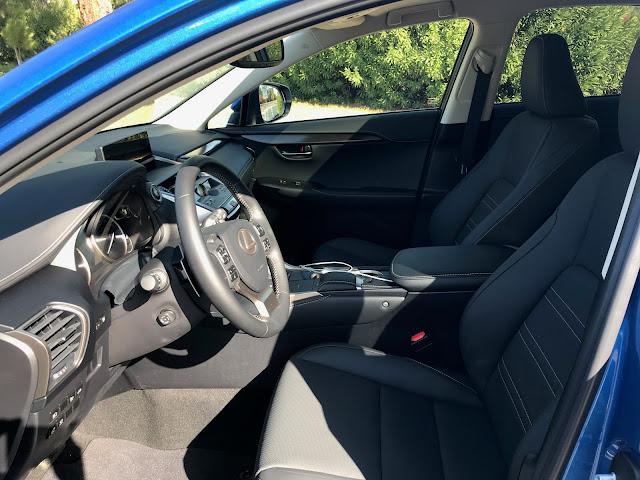 Interior view of 2020 Lexus NX 300h