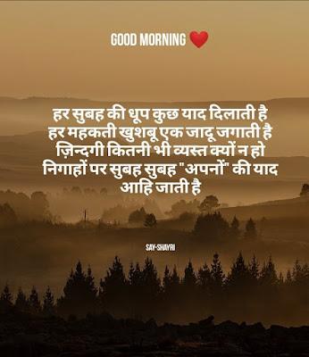 Good morning shayari - हर सुबह की धूप