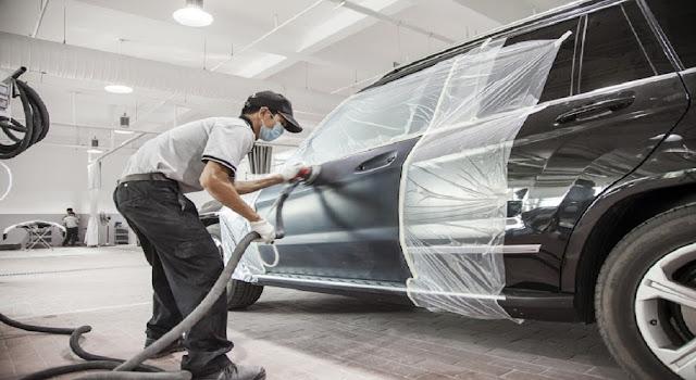 Đội ngũ nhân viên đồng sơn xe Mercedes chuyên nghiệp tại Mercedes Trường Chinh