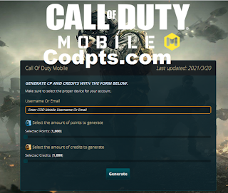 Codpts com || How To Get Free CP COD Mobile From Codpts.com