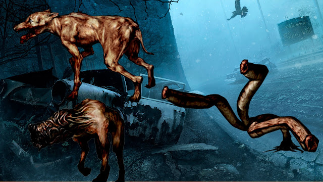 Groaner Wormhead Bloodsucker Sanguijuela Simbolismo de Silent Hill