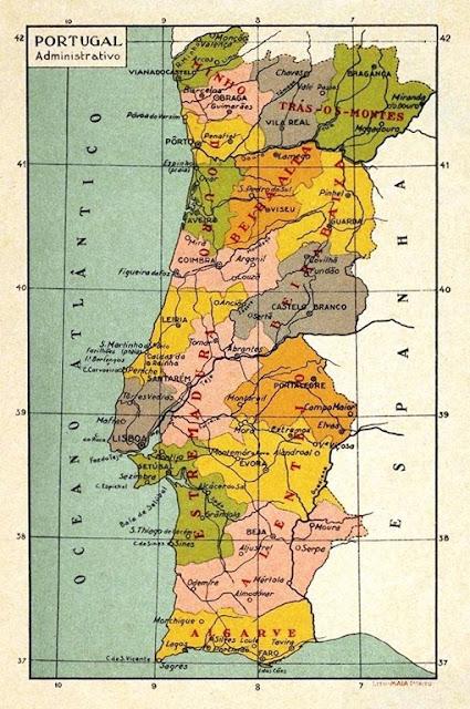 ... deste Mapa de Portugal nas salas de aula