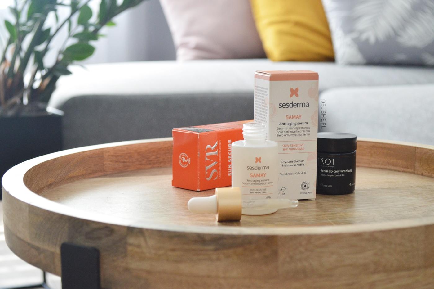 nowości w pielęgnacji twarzy, SVR Blur, KOI COsmetics, Sesderma
