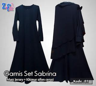 Model Baju Gamis Syar'i Set Terbaru Bahan Jersey