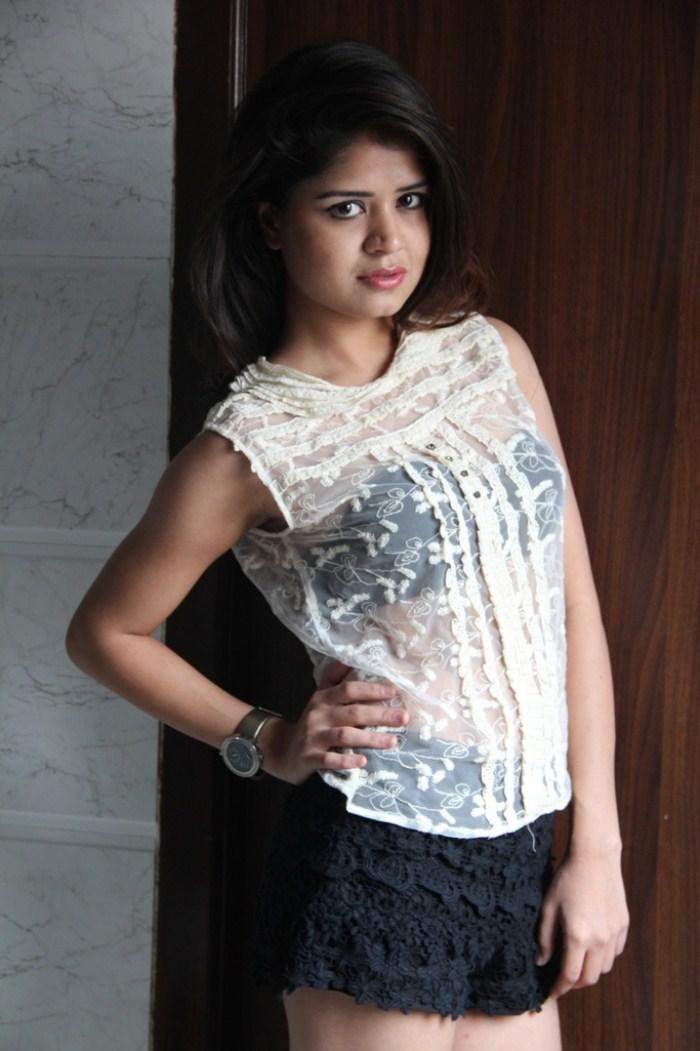 Ranjana Mishra Hot In Transparent Top Latest Photo Shoot -4546