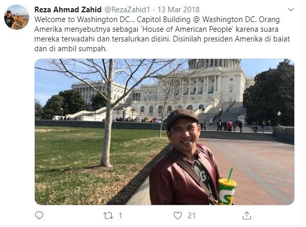 Gus Reza Ahmad Zahid ceramah di Amerika