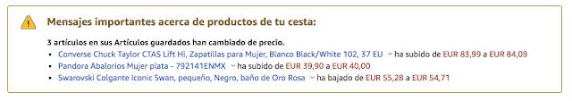 bajada de precios en productos de Amazon
