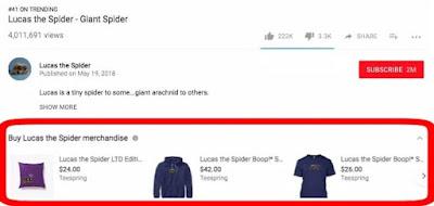 Merchandising on YouTube