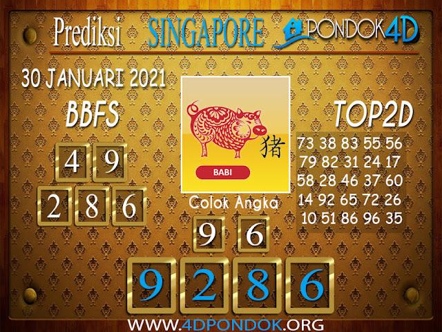 Prediksi Togel SINGAPORE PONDOK4D 30 JANUARI 2021