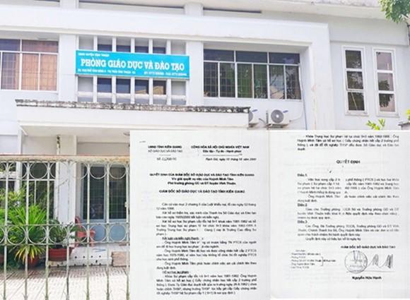 Trưởng phòng Giáo dục và Đào tạo huyện thừa nhận dùng bằng cấp mang tên em trai để đi học, đi làm