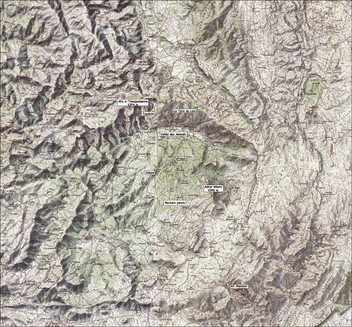 Carte de la région de Tafraout