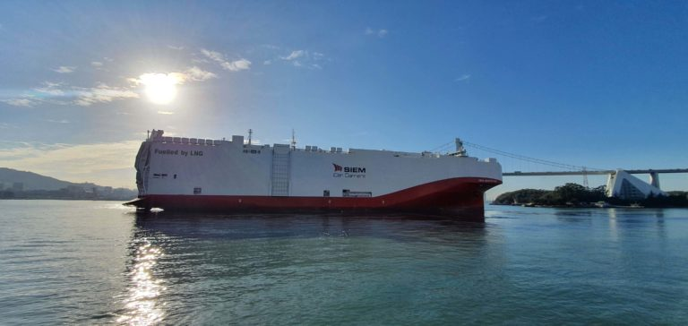 The Siem Aristotle upon delivery to Siem Car Carriers in October 2020. Photo: Siem Ship Management