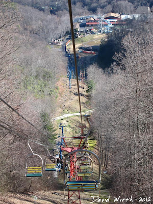 chair lift, view of ober, tennessee