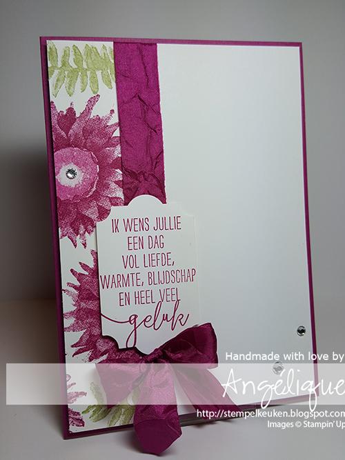 Stampin' Up! producten bestel je natuurlijk bij de Stempelkeuken #stempelkeuken #stampinup #stampinupnl #stampinupdemo #cardmaking #papercrafting #kaartenmaken #creatief #papier #paintedharvest #dimensionals #ribbon #berryburst #denhaag #thehague #westland #scheveningen #delft #zuidholland #ado #roze #handmade #homemade