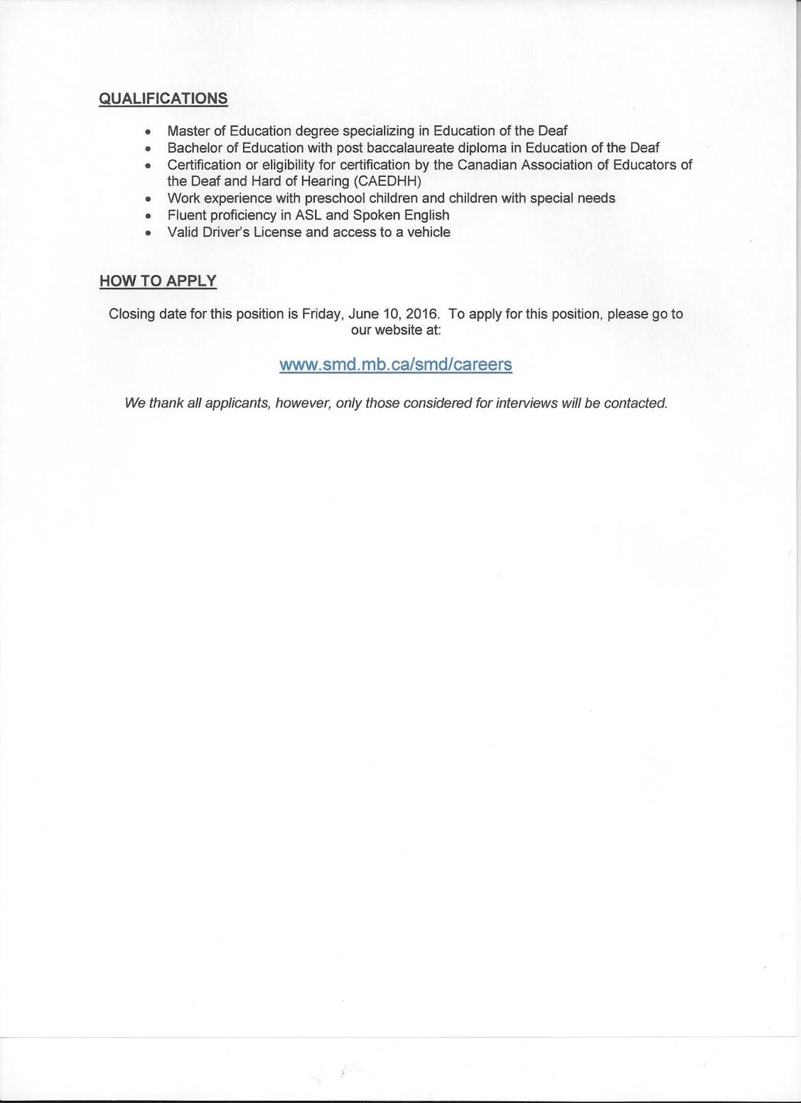 Deaf centre manitoba inc smd job posting teacher of the deaf posted by deaf manitoba at 0952 1betcityfo Gallery