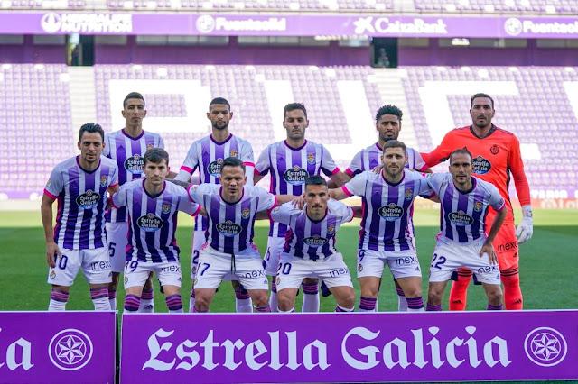 REAL VALLADOLID C. F. Temporada 2020-21. El Yamiq, Joaquín, Bruno, Janko, Roberto. Óscar Plano, Toni Villa, Roque Mesa, Fede San Emeterio, Weissman y Nacho. REAL VALLADOLID C. F. 0 VILLARREAL C. F. 2. 13/'5/2021. Campeonato de Liga de 1ª División, jornada 36. Valladolid, estadio Josè Zorrilla. GOLES: 0-1: 68', Gerard Moreno. 0-2: 90+1', Capoue.