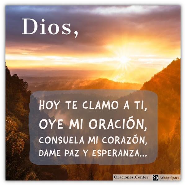 Oración de Hoy Miércoles - Dios te Oirá y te Responderá