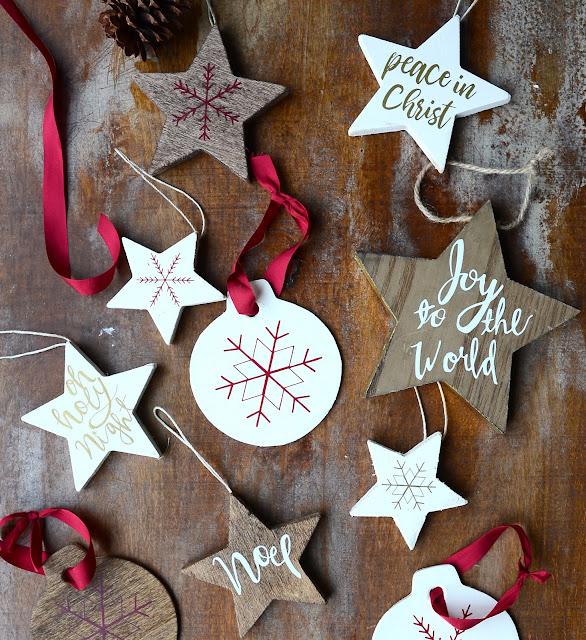 diy handlettered scandinavian ornaments