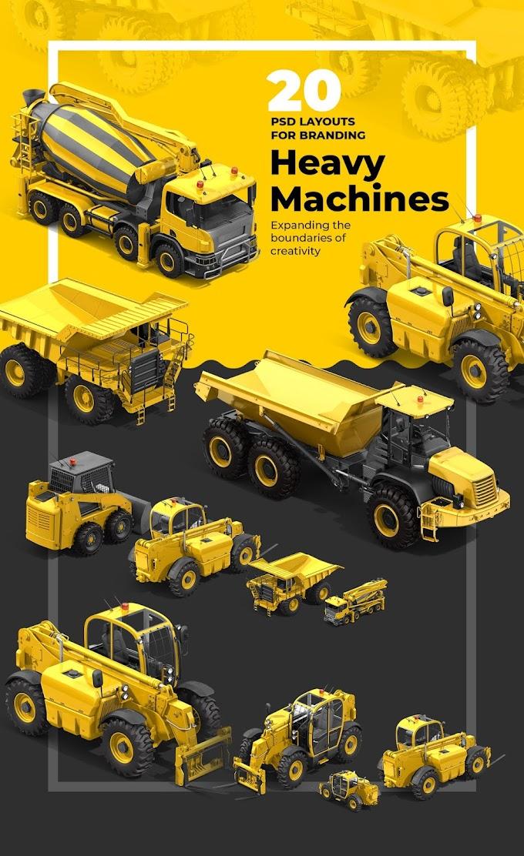 PSD Heavy Machines Mockup 360 PRO #04[Photoshop][68167]