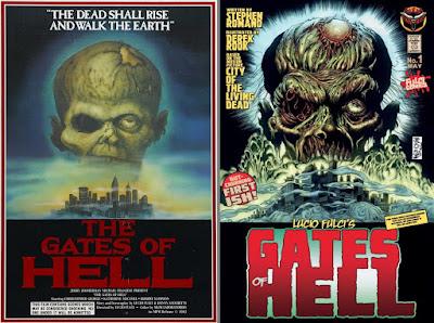 Gates of Hell: confronto tra il poster del film e la cover del fumetto