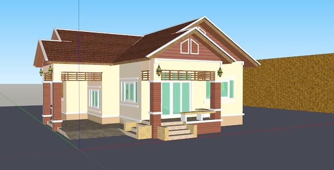 Thai Villa Design Sketch Up File