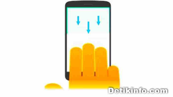 teknik screenshot tiga jari di OPPO A92