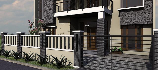 Kumpulan Contoh Pagar Rumah Minimalis Modern Yang Mewah