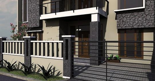Terbaru 43+ Model Pagar Rumah Hitam