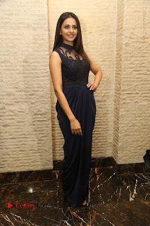 Actress Rakul Preet Singh Stills in Beautiful Blue Long Dress at Dhruva Salute to Audience Event  0097.JPG