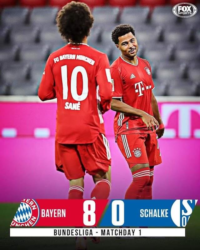 Bayern Munich Murders Schalke (Bundesliga)