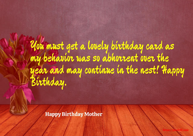 Birthday Greeting card for Mother