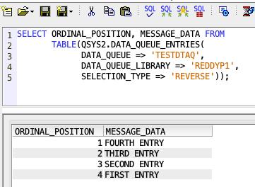 Retrieve data from Data Queue