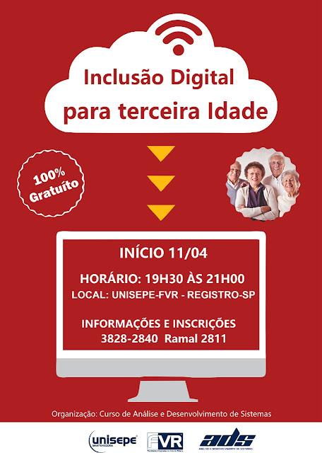 Projeto Inclusão Digital para Terceira Idade na UNISEPE-FVR