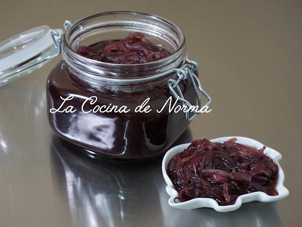 CHUTNEY DE CEBOLLA MORADA Y VINO TINTO