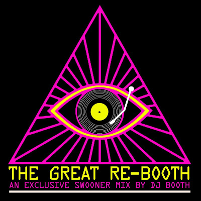 The Great Re-Booth mix cover image - illuminati pyramid with eye and record player