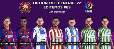 eFootball PES 2020 PS4 Editemos PES Option File V2.1