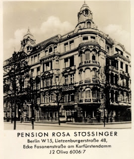 Postcard - Pension Rosa Stössinger - Berlin