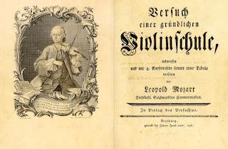 """Tratado """"Versuch einer gründlichen Violinschule"""" (en español, """"Tratado completo sobre la técnica del violín"""", más conocido como """"Escuela de violín""""), de Leopoldo Mozart, publicado en 1756."""
