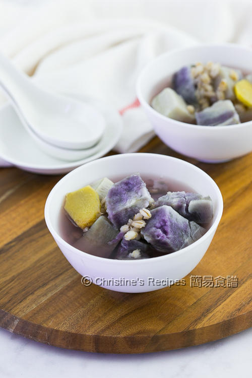 紫芯番薯薏米糖水 Purple Sweet Potato and Pearl Barley Dessert Soup02