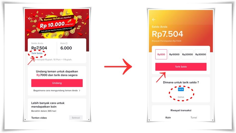 Cara mudah dan cepat mendapatkan uang dari TikTok