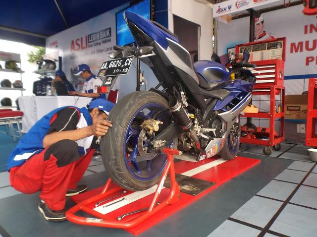 Pengecekan motor Yamaha
