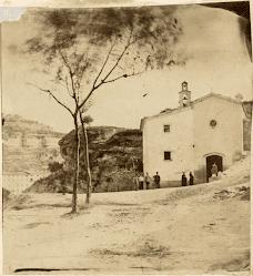 Imatge de la capella de la Guia feta pel fotògraf manresà Benet Cabanes i Prunés pels volts de 1865. Font: Arxiu Comarcal del Bages