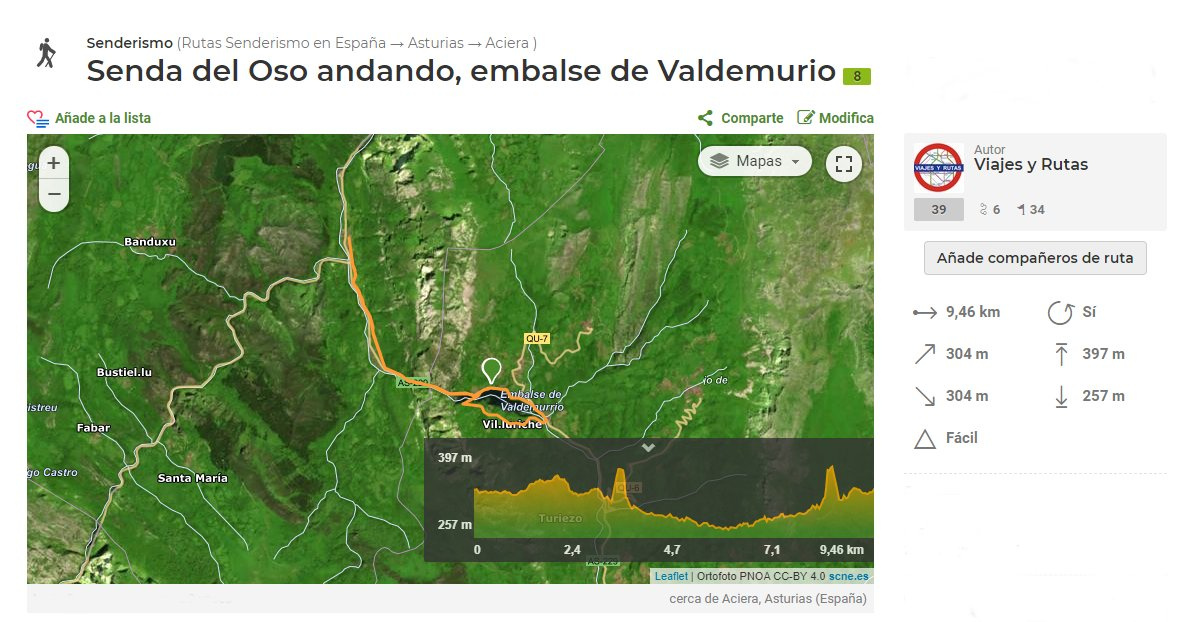 Senda del oso, del Embalse de Valdemurio a Caranga