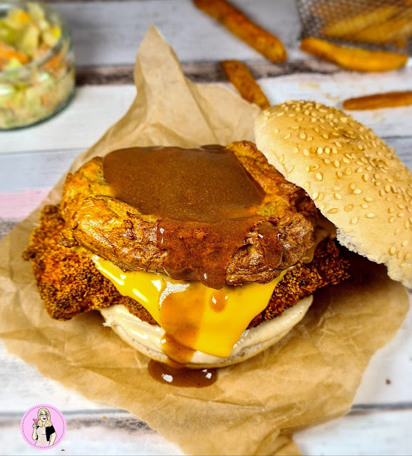 KFC Gravy Burger Fakeaway Recipe slimming world friendly low syn