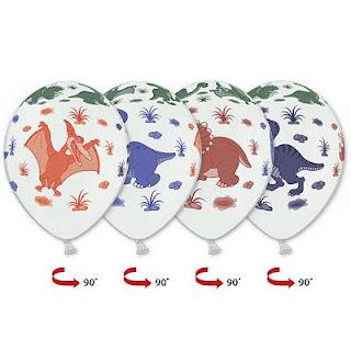 воздушный шарик с динозаврами