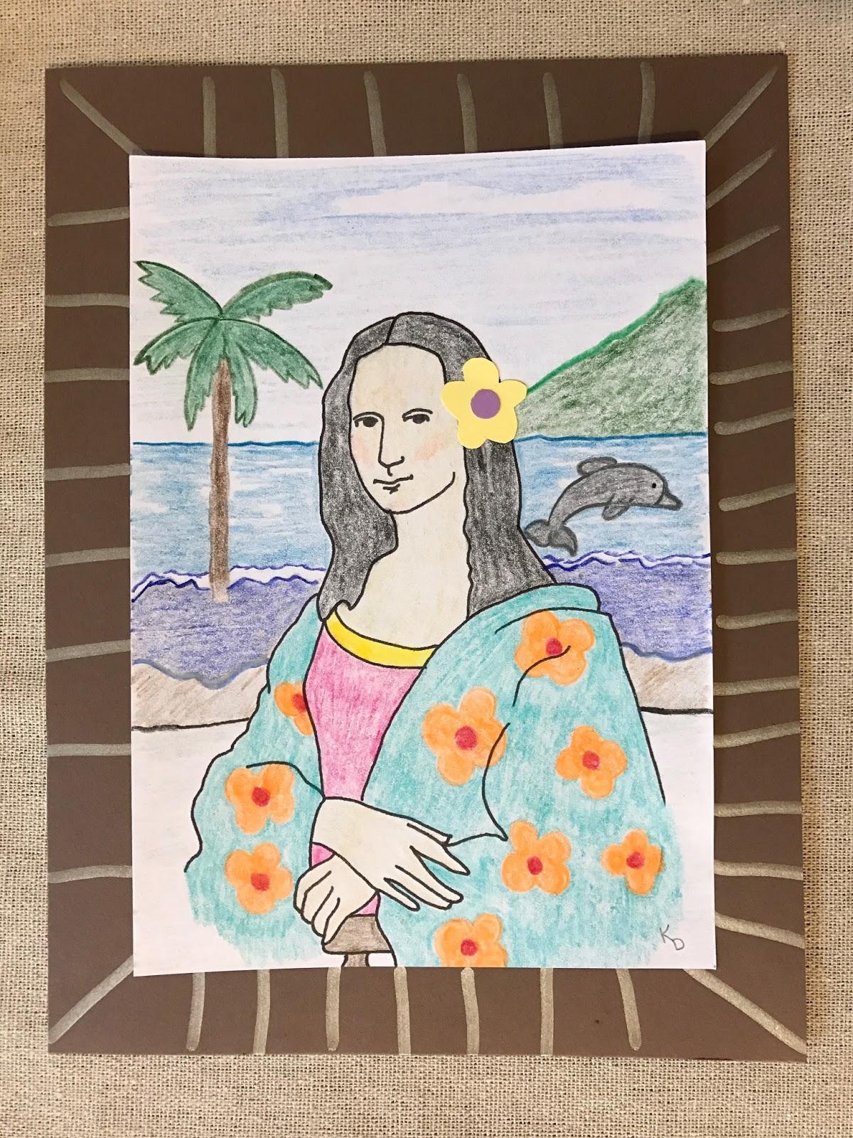 Kathy's Art Project Ideas: Mona Lisa Parody Art Lesson