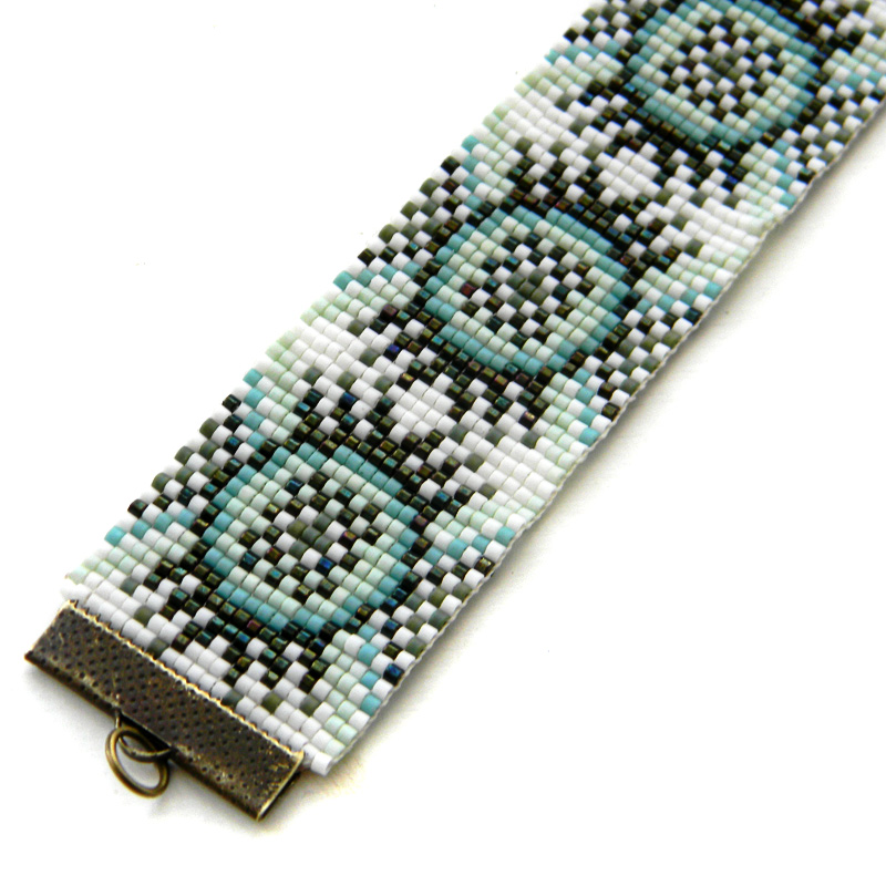 beaded cuff beadloom bracelet beadwork loom pattern beads